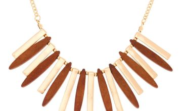 Go to Product: Gold Wooden Bar Statement Necklace