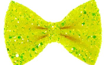 Go to Product: Neon Glitter Mini Hair Bow Clip - Yellow