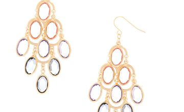 "Go to Product: 2.5"" Pastel Shine Chandelier Drop Earrings"