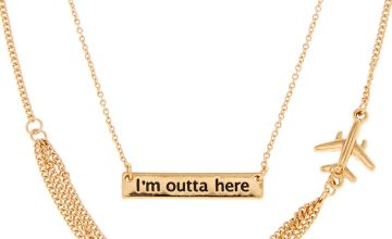 Go to Product: Gold Tone I'M OUTTA HERE Pendant Necklace
