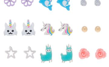 Go to Product: Uni-Animal Stud Earrings - 9 Pack