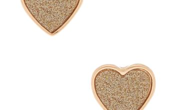 Go to Product: Gold Glitter Heart Stud Earrings