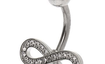 Go to Product: Silver 14G Crystal Infinity Belly Ring