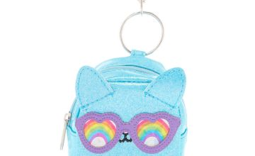 Go to Product: Cam the Cat Mini Backpack Keychain - Turquoise
