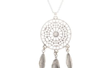 Go to Product: Silver Dreamcatcher Long Pendant Necklace