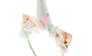 Go to Product: Holographic Unicorn Cat Ears Headband - White