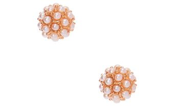 Go to Product: Rose Gold Pearl Fireball Stud Earrings