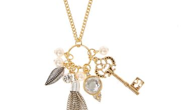 Go to Product: Gold Tassel & Key Cluster Pendant Necklace