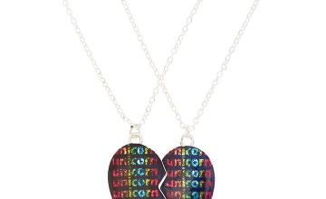Go to Product: Best Friends Unicorn Heart Pendant Necklaces - Black, 2 Pack