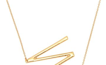 Go to Product: Oversized Initial Pendant Necklace - W