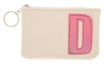 Go to Product: White Faux Leather Pink Initial D Coin Purse