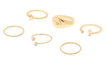Go to Product: Gold Celestial Rings - 6 Pack