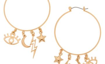 Go to Product: Gold 40MM Eye Charm Hoop Earrings