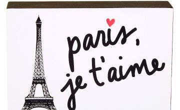 Go to Product: Paris, Je'Taime Word Block - White