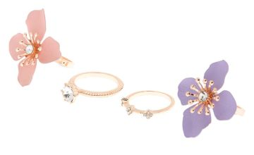 Go to Product: Gold Petal Power Rings - 4 Pack