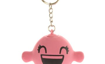 Go to Product: Smiley Stress Ball Keychain - Pink