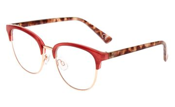 Go to Product: Tortoiseshell Browline Clear Lens Frames - Berry