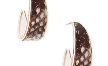 Go to Product: Silver 30MM Snake Skin Hoop Earrings