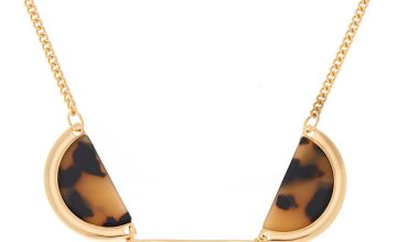 Go to Product: Gold Resin Tortoiseshell Half Moon Statement Necklace