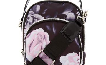 Go to Product: Floral Messenger Crossbody Bag - Black