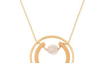 Go to Product: Gold Orbit Horseshoe Long Pendant Necklace
