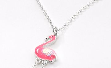 Go to Product: Silver Moveable Flamingo Pendant Necklace - Pink