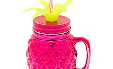 Go to Product: Pineapple Mason Jar Cup - Pink