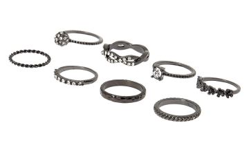 Go to Product: Hematite Forever Glam Rings - 8 Pack