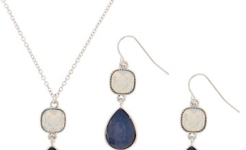 Go to Product: Silver Teardrop Jewellery Set - Blue, 2 Pack