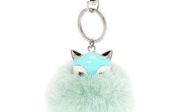Go to Product: Trixie the Fox Pom Pom Keychain - Mint