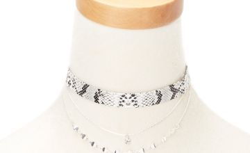 Go to Product: Silver Snake Skin Choker Necklaces - 2 Pack