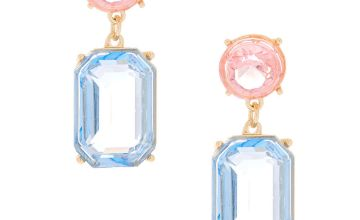 "Go to Product: 1"" Pastel Shine Geometric Drop Earrings"