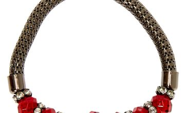 Go to Product: Hematite Bead Stretch Bracelet - Red