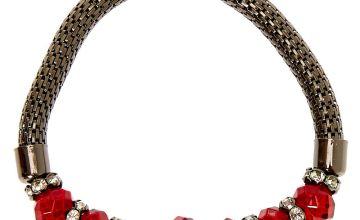 Go to Product: Hematite Bead Stretch Bracelet - Red
