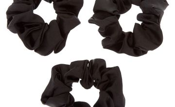Go to Product: Silk Hair Scrunchies - Black, 3 Pack