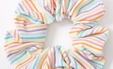 Go to Product: Medium Ribbed Rainbow Striped Hair Scrunchie