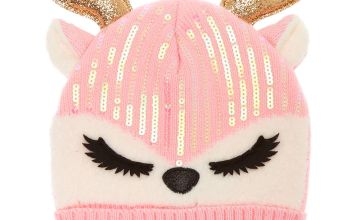 Go to Product: Ginger the Deer Sequin Beanie - Pink