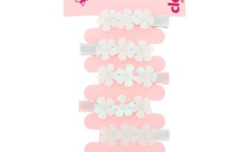 Go to Product: Claire's Club Sequin Pearl Flower Hair Clips - 6 Pack