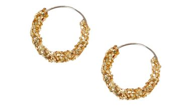Go to Product: Gold 10MM Glitter Hoop Earrings