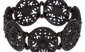 Go to Product: Filigree Medallion Stretch Bracelet - Black