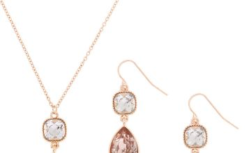 Go to Product: Rose Gold Teardrop Jewellery Set - Blush, 2 Pack