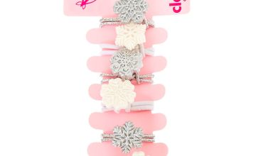 Go to Product: Claire's Club Snowflake Hair Bobbles - 6 Pack