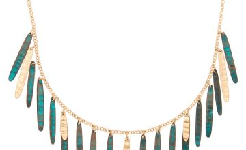 Go to Product: Gold Patina Stick Statement Necklace