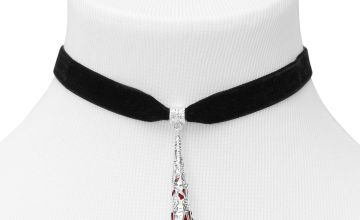 Go to Product: Blood Drop Choker Necklace - Black