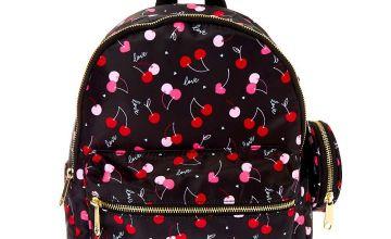Go to Product: Nylon Cherry Love Medium Backpack - Black