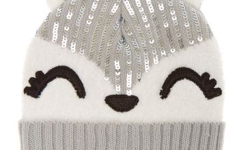 Go to Product: Trixie the Fox Sequin Beanie - Grey
