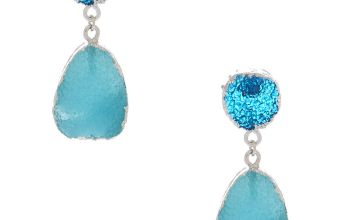 "Go to Product: 1.5"" Geode Drop Earrings - Blue"