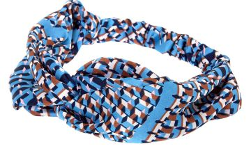 Go to Product: Geometric Twisted Headwrap - Blue