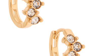 Go to Product: Gold 10MM Fancy Crystal Huggie Hoop Earrings