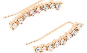 Go to Product: Rose Gold Embellished Curved Ear Crawler Earrings